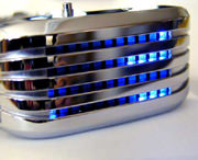 The Barcode SS LED watch