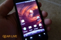 HTC Droid Incredible powered on