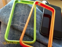 iPhone 4 Bumper Cases in orange and green