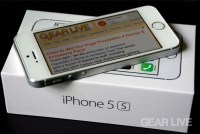 iPhone 5s silver on box