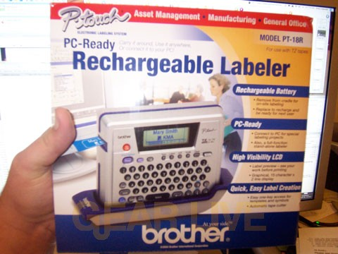 Brother P-touch Printer Labels and Dymo.