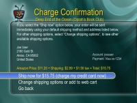 TiVo Amazon Integration: Charge Confirmation
