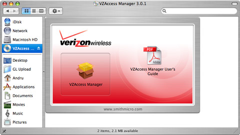 V640 VZAccess Installation