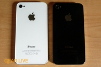 White and black iPhone 4 back