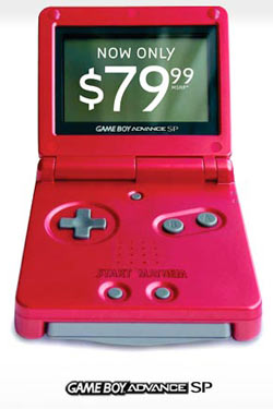 Game Boy Advance GBA SP $79.99 price drop