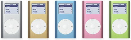 iPod mini Colors