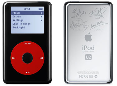 U2 Limited Edition Black and Red iPod