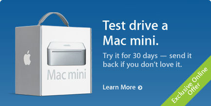 Mac mini Test Drive