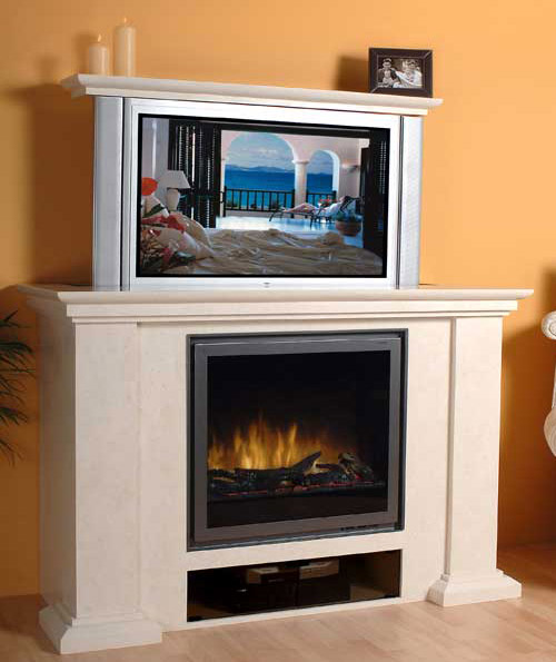 hide your plasma tv behind a fireplace gear live