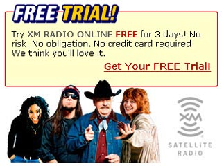 Free 3 Day XM Satellite Radio Trial