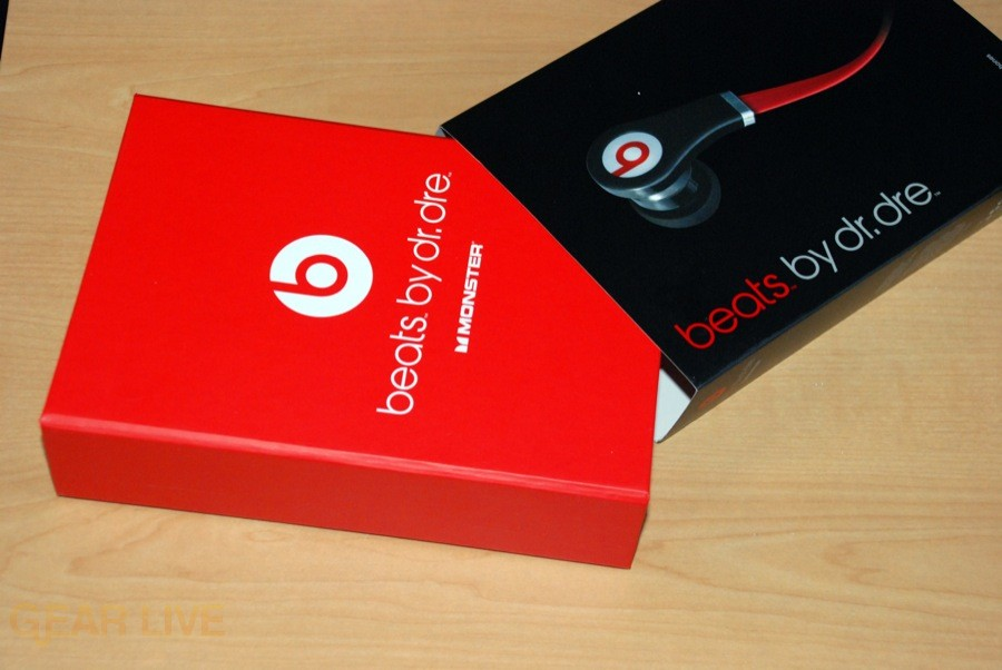 Beats by Dr. Dre Tour earbuds inner box