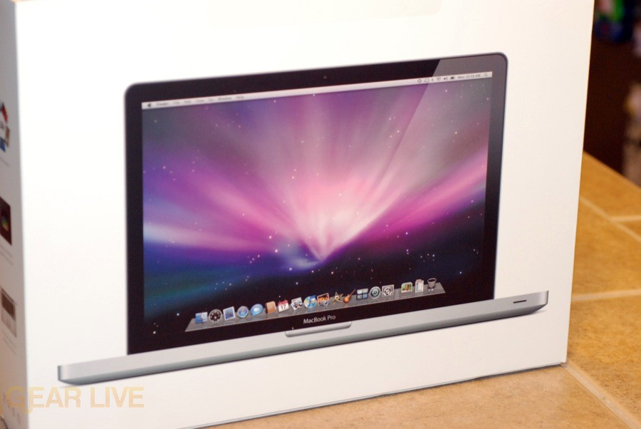 MacBook Pro 2008 box upright