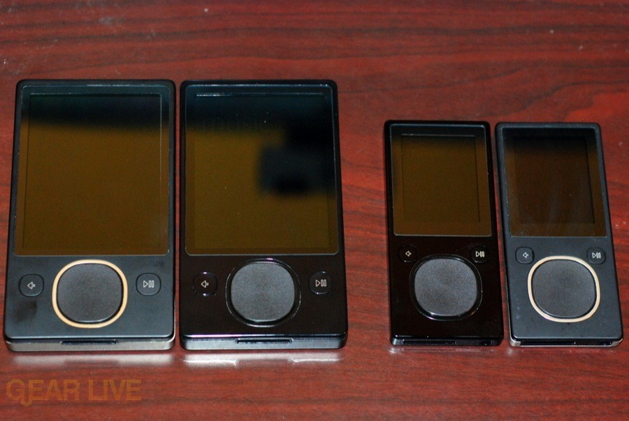 Zune 120 and Zune 16 with Zune 80 and Zune 8