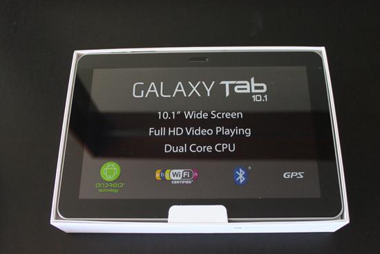 Samsung Galaxy Tab 10.1 in box