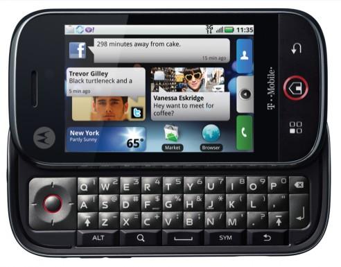 Motorola CLIQ Front Open