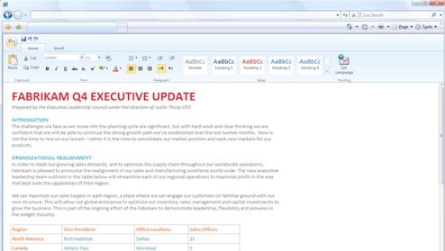 Microsoft Office Online Word