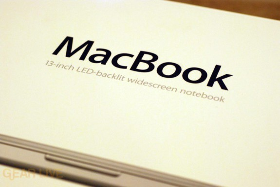 MacBook 2008 box wording