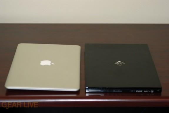 MacBook Air and Voodoo Envy 133 horizontal