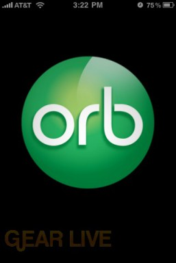 OrbLive Launch Screen on iPhone