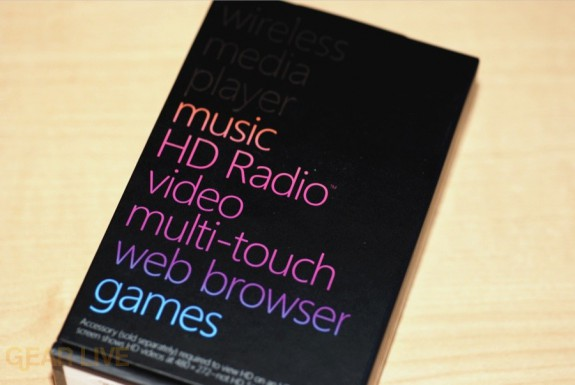 Zune HD back of box