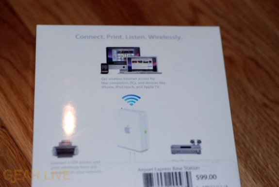 AirPort Express 802.11n back of box