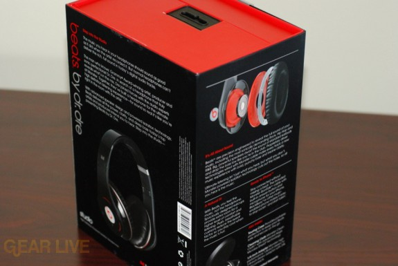 Beats by Dr. Dre box side back