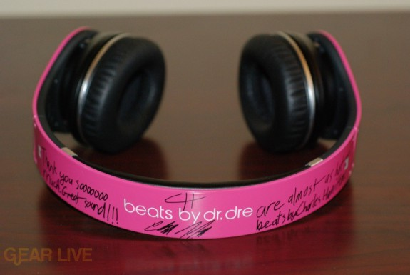 Beats by Dr. Dre Pink Charles Hamilton Customs top down