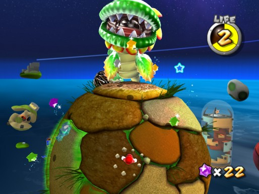 Mario Galaxy HD: Pirana Plant