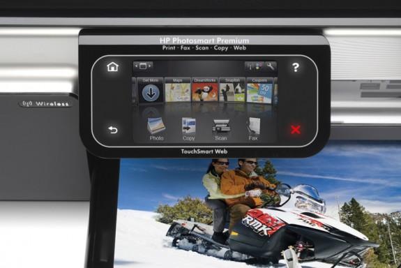 HP Photosmart Premium with Touchsmart Web control pad
