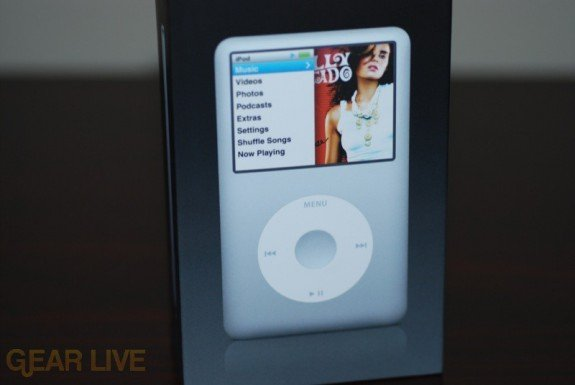 Front of iPod classic Box