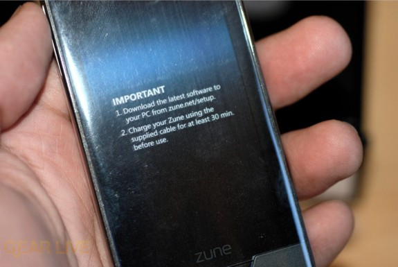 Zune HD still in plastic