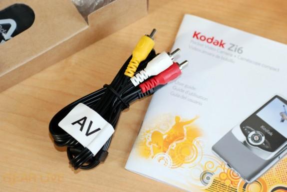 Kodak Zi6 AV cable