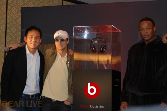 Dr. Dre Poses with his new Beats Headphones