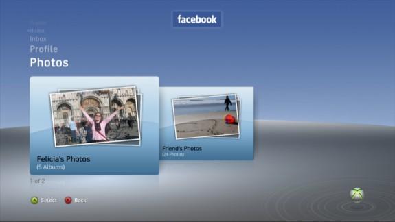 Facebook Friend Photos on Xbox 360