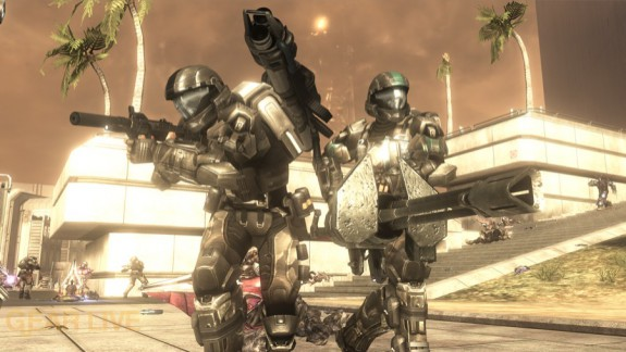 Halo 3: ODST Security Zone Firefight Map 7