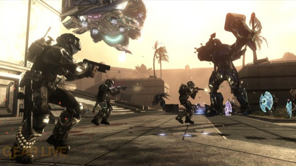 Halo 3: ODST Security Zone Firefight Map 8