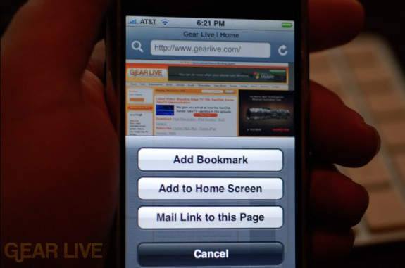 iPhone 1.1.3 Firmware: New Bookmarks Menu