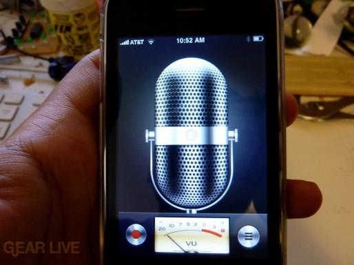 iPhone 3G S Apps: Voice Memos