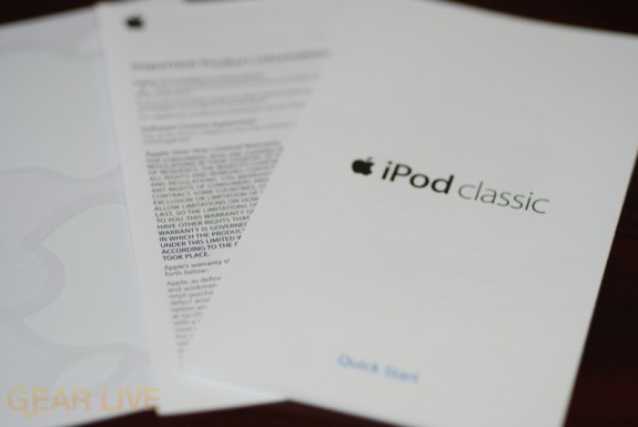 iPod classic Instruction Booklet