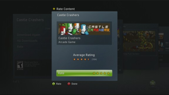 Xbox 360 Game Ratings: Castle Crashers
