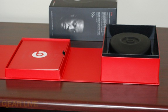 Beats by Dr. Dre red box opened