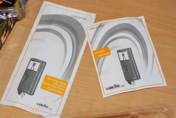 Creative Vado HD instruction manuals