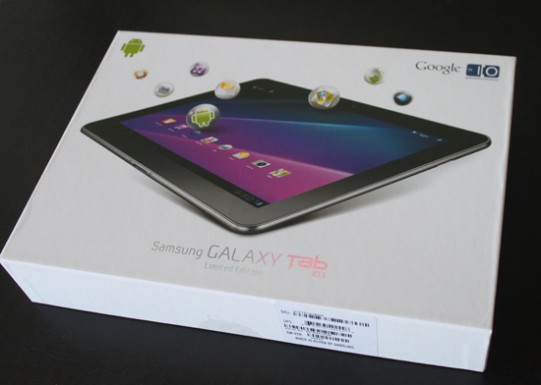 Samsung Galaxy Tab 10.1 box