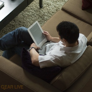 Kindle DX in use
