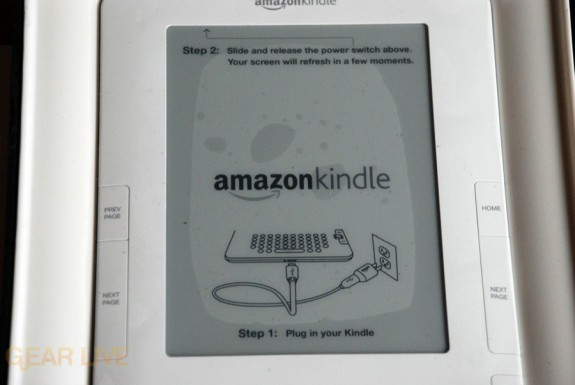 Kindle 2 covered screen