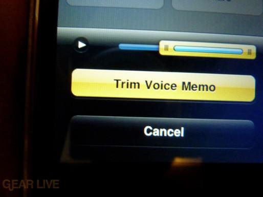 iPhone 3G S Apps: Trim Voice Memo