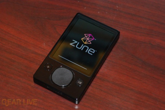 Zune 120: Powered on