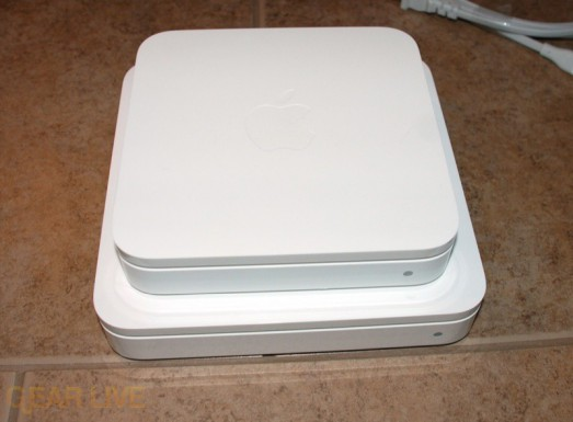 Airport Extreme on top of Time Capsule