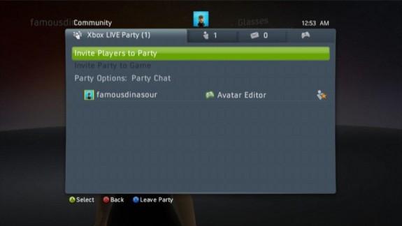 Xbox 360 Party Invite