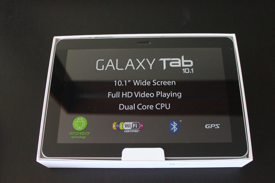 Samsung Galaxy Tab 10.1 in box